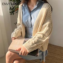 [ENVYLOOK官方旗艦店]麻花捲編織紋開襟針織罩衫