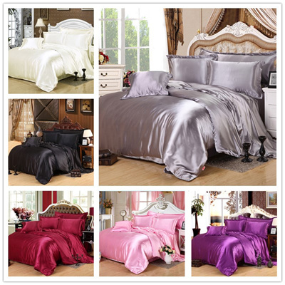 Luxury Silk Damask Bedding Sets Nice Feel Bed Sheets Duvet Cover Home  Texitle( Size Twin