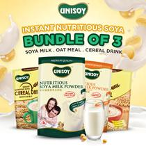 Bundle of 3!Limited Period!!!Unisoy Soya Milk PowderCerealOatmeal!