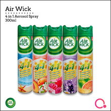 [RB] Airwick® 4 In 1 Aerosol 300ML【4 Scents ~ Lavender/Citrus/Rose/ Aqua Marine/Peach】Smell Nice ~
