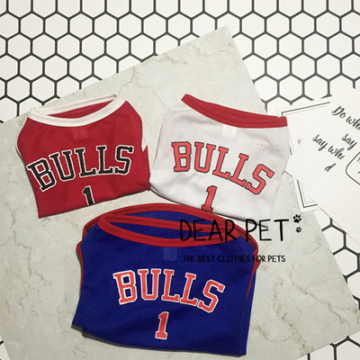 timeless design b21ec 34930 2018 spring pet summer clothes dogs nba jersey basketball team soft  breathable dog vest tshirt cat