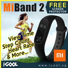 [ FREE Screen Protector ] Xiaomi Mi Band 2 Smart Wristband Heartbeat Band