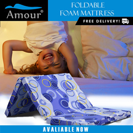 AMOUR BRAND SINGLE SIZE LION FOAM FOLDABLE MATTRESS F/ REE DELIVERY / BETTER THAN SEA HORSE