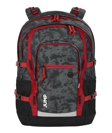 a176735cbc791  globalkshop  4YOU Basic Schulrucksack Jump 47 cm, Camou Red  Direct from  Germany