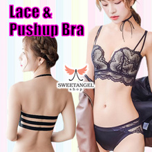 FREE SHIPPING [SweetangelShop] Sales 8mm Slimest Bra Sexy bralette Pushup bra sets