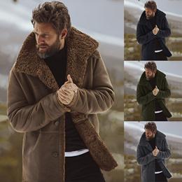 抓绒厚款大衣