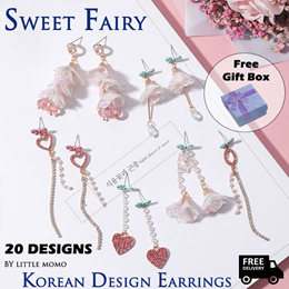 [FREE GIFT BOX] LITTLE MOMO  SWEET FAIRY SERIES EARRINGS  20 DESIGNS! FREE SHIPPING!