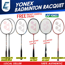 YONEX 100%AUTHENTIC BADMINTON RACKET CARBONEX NANORAY ARCSABER !! FREE RACKET COVER
