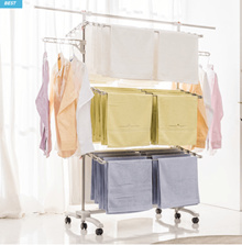 Fortable 6 Layers Washing Clotheslines Drying Rack Laundry Clothes Hanger Free EMS
