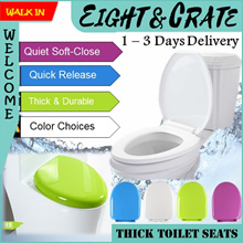 🚽🇸🇬Toilet Seat🚽🇸🇬 Universal Toilet Seat cover Extra Thick* Quick Release*Silent Slow-Close