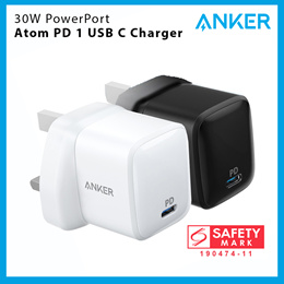 [Power Delivery] Anker 30W PowerPort Atom PD 1 USB-C Wall Charger (SG Plug)