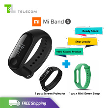 【FREE Screen Protector + Strap】Xiaomi Mi Band 3 (Black) OLED Touch Screen Water Resistant Sports