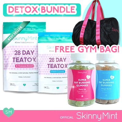 [SkinnyMint Official] 50% OFF Detox Bundle 28Day Teatox Deals for only S$139.8 instead of S$0