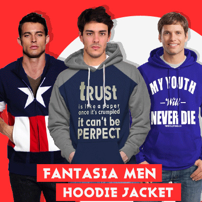 Fantasia Jaket Hoodie Pria My Hoodies Deals for only Rp139.000 instead of Rp139.000