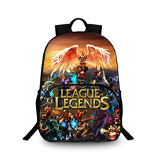 3D Backpacks League of Legends Print Bags For Childrens School Laptop Kids Backpack Dropshipping YIZ