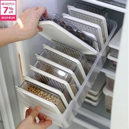 【SENSEMOM】Refrigerator Container Set★Freezer Food Storage/Tray+Subdivision★KITCHEN Organizer