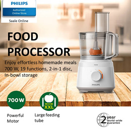 Philips Daily Collection Food Processor - HR7320 with 2 years international warranty