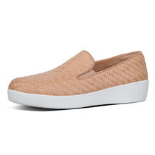 FITFLOP SUPERSKATE LOAFERS-WOVEN LEATHER NUDE ★100% Authentic★