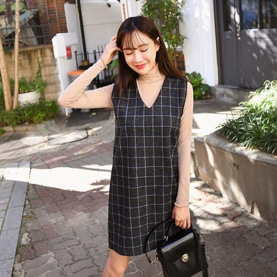 エンビルクラテブイワンピース 綿ワンピース/ 韓国ファッション