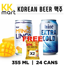 BEER 24 CAN - Korean Bear. (Mango Lingo  Hite extra cold)