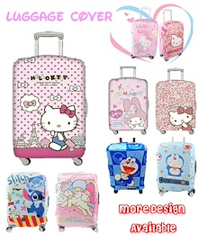 ❤ Hello Kitty Elastic Luggage Cover ❤ Luggage Bag Protector ❤ Melody Doraemon Twin Star ❤Paris