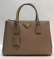 19eb0c6317 PRADA Galleria Lux Saffiano Leather Bag (1BA863 NZV F0236 POWDER PINK)