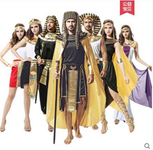 Cospla Halloween adult costume Egyptian Pharaoh Yan Hou male Middle Eastern Arab female robe costume
