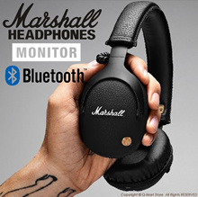[Premium Original Marshall Monitor Bluetooth ] Headphones Leather Noise Cancelling Deep Bass
