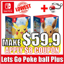 [Nintendo Switch]  Nintendo lets go Pikachu / Eevee Pokeball Plus [The Cheapest price in Qoo10]