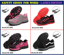 Safety working shoes / Ladies Safety Shoes/ Foot Protection shoes for ladies at work