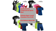 Compression Performance Athletic Sports Quick Dry Fit Shirt Short Tight Tank Top Gym Running Cycling