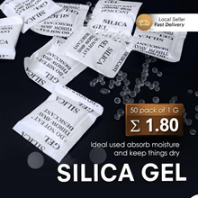 Silica Gel ★VALUE 50 Packs Of 1g / Dry Clothes Shoe Food F Desiccant Dehumidifiers Moisture Reusable