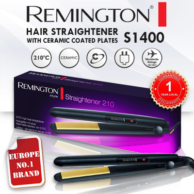 Superb REMINGTON S1400 Hair Straightener With CERAMIC Coated Plates [1 YEAR  WARRANTY]