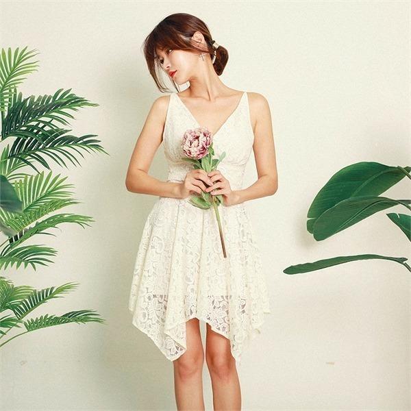 バルシャブイネクレースフレアワンピースnew ロング/マキシワンピース/ワンピース/韓国ファッション