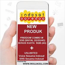 Indosat ooredoo FREEDOM COMBO M 7GB (2GB + 3GB + 1GB + 1GB) Biasakan Membaca DESKRIPSI