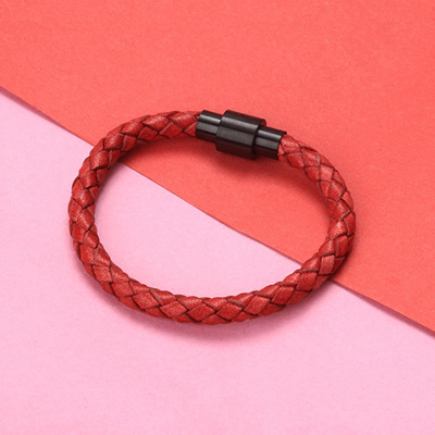 82652f0202565b The original red leather rope bracelet year of fate hand woven leather red  rope couples men