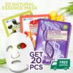 [10+10 Pcs] 3D Natural Essence Masker pulp alami / Asli KOREA / Masker Wajah