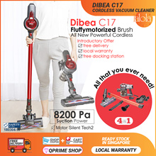 【▼61%】Dibea C17/C01 Cordless Vacuum Cleaner 2 in One/ Silent and Powerful 🌟