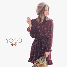 YOCO - Laced Frill Hem Dress-172062-Winter