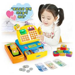 ★NEW★ Pororo talking mart cash register toy / Pororo checkout counter / Pororo mart cashier toy (Qxpress)