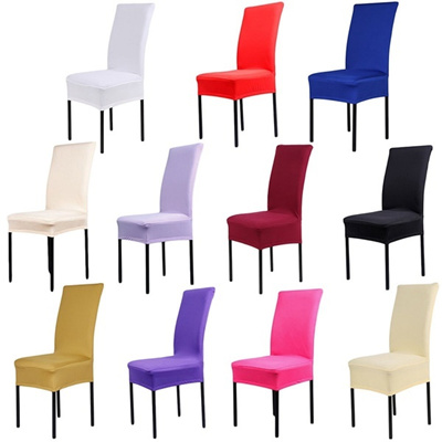 US Stock Dining Chair Covers Spandex Strech Dining Room Chair Protector Slipcover Decor