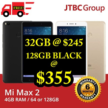 [6 MTHS warranty!] Mi Max 2 GOLD/BLACK | 32GB/64GB/128GB |6.4inch|GLOBAL ROM | BEST WARRANTY ON HERE