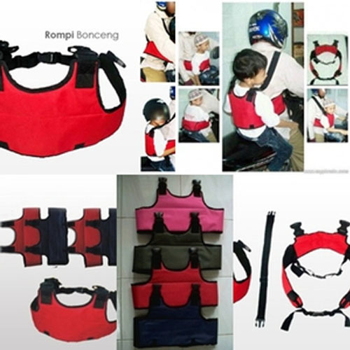 Sabuk Bonceng Anak di Motor Full Body  Rompi Pengaman Ganda  Safety Belt Riding  Bahan Bagus