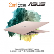 Asus UX331U-ALEG033T Laptop - i5-8250U| 13.3 inch  FHD| W10| 8GB| 256GB SSD| Gold
