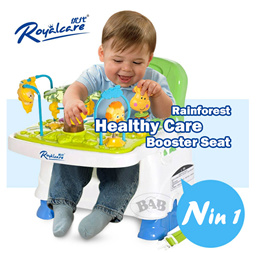 Royalcare Rainforest Healthy Care Adjustble Booster Seat/Baby feeding chair/ high chair
