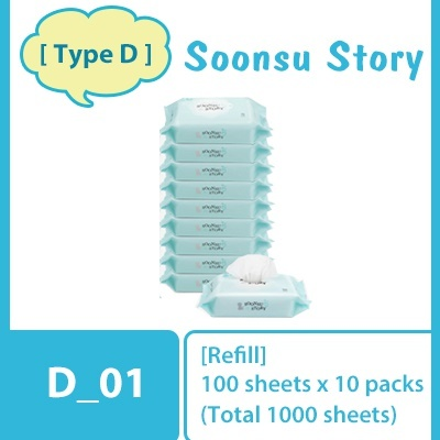 D_01. Soonsu Sky Refill (10pack X 100 sheets)