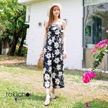 MAYUKI - Bandeau Jumpsuit with Floral Print-6017103
