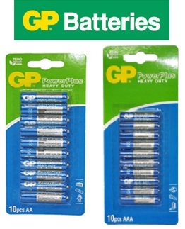 GP/Sony Heavyduty Powerplus AA/AAA Battery Batteries Deals for only S$1.5 instead of S$0