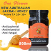 25+ 35+ AUSTRALIAN JARRAH HONEY 500g 2 - 3 X MORE ANTIOXIDANTS THAN MANUKA HONEY!! EXP MAY 2021