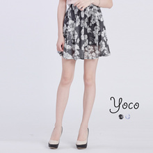 YOCO - Floral Netted Skorts-6016344